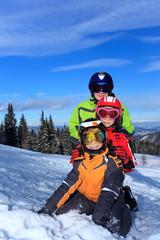 Kids skiers