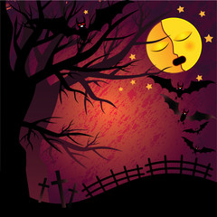 Poster Forest animals Halloween