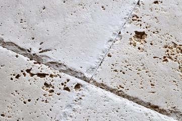 Travertine floor