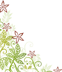 Ranke, Herbst, Blumen, Blüten, Blätter, Laub