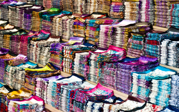 Large collection of silk cloth