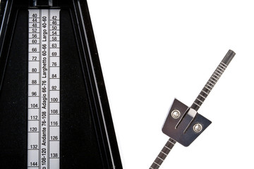 Metronome with White Background
