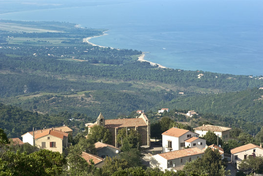 Corsica del Sud, panorama su Sari Solenzara ed il mare
