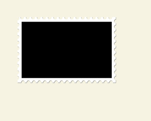Blank Unused Postage Stamp
