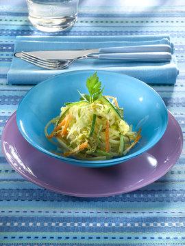 carbonara de légumes - linguines aux légumes