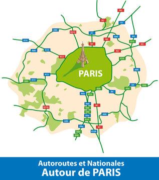 PARIS - Autoroutes et Nationales