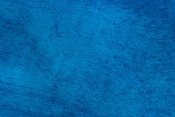 Natural qualitative blue leather texture. Close up.