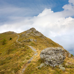 Fototapete - pathway in mountains
