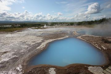 Iceland - hot springs in Geysir area