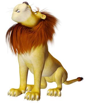 lion cartoon sit roar