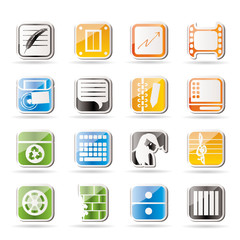Simple Business, Office and Mobile phone icons