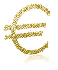 3D Illustration of euro