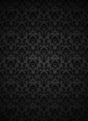 Seamless pattern black