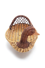 Duck Wicker Basket