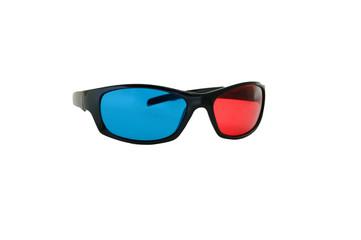 3-Д очки изолированные на белом