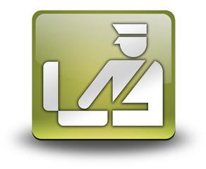 "Yellow 3D Effect Icon ""Customs Symbol"""