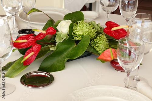 Composition Florale Centre De Table Photo Libre De