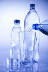 Water bottle background