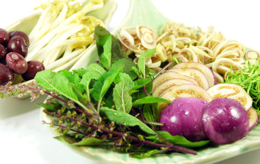 Sliced Thai vegetables