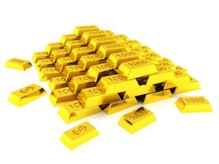 Gold bars mountain