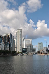 Canary Wharf skyline, London