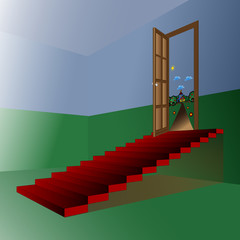 dream stair vector