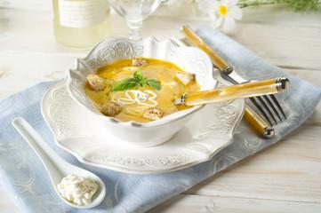 pumpinks soup- zuppa di zucca