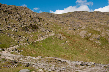 The path up Coniston Old Man
