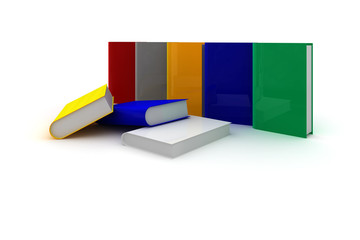 Bücher bunt