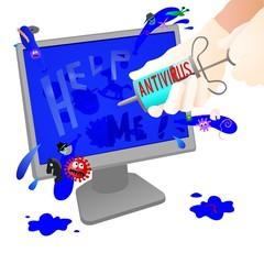 Computer antivirus treatment