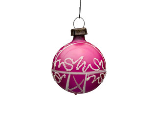 Old Christmas ornements (clipping path)