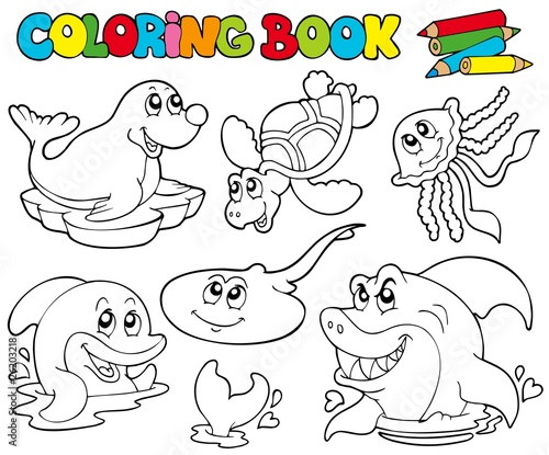 Animals pictures to color