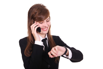 business women with phone