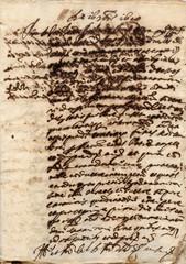 Calligrafia vecchia