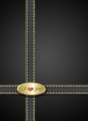 Black  Valentine Background with  Heart