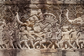 Altes Relief der Khmer