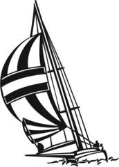Sailboat Vinyl Ready Vector Illustration