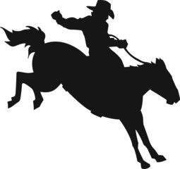 Bronco and Rider Vinyl Ready Vector Illustration