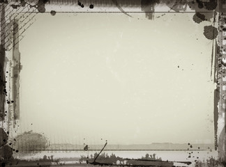 Grunge frame with space for your text and images