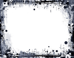 Grunge high detailed border for your images
