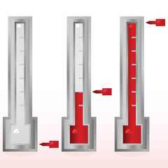 Poster Echelle de hauteur Fundraising goal meter