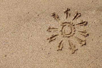 sunny sand background