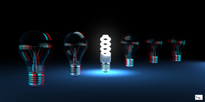 Efficient Light Concept (anaglyph stereo)