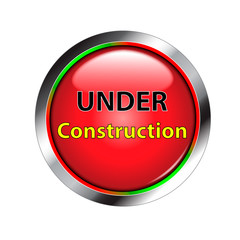 Red shiny under construction button