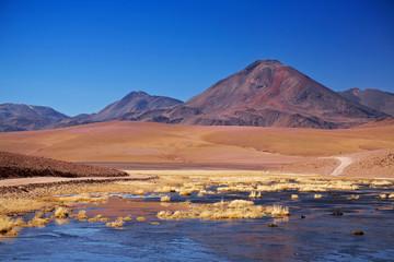 volcano Cerro Colorado near Rio Putana in Atacama region, Chile