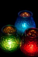 RGB свечи вертикально