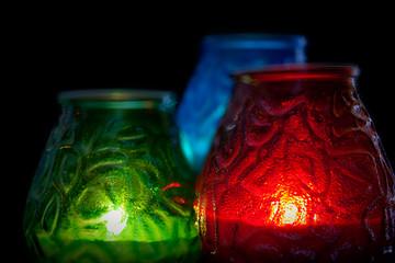 RGB свечи горизонтально