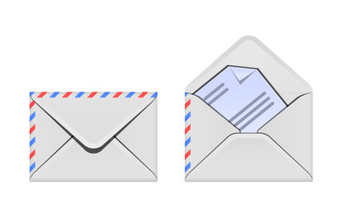 Open and closed envelope icons