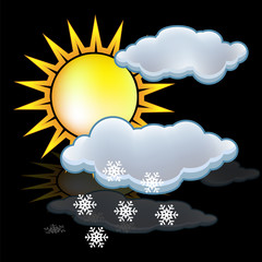 Sun  snow icon vector