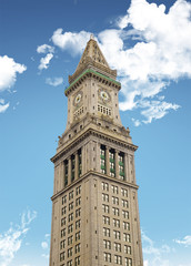 Custom Tower in Boston, isolated on white
